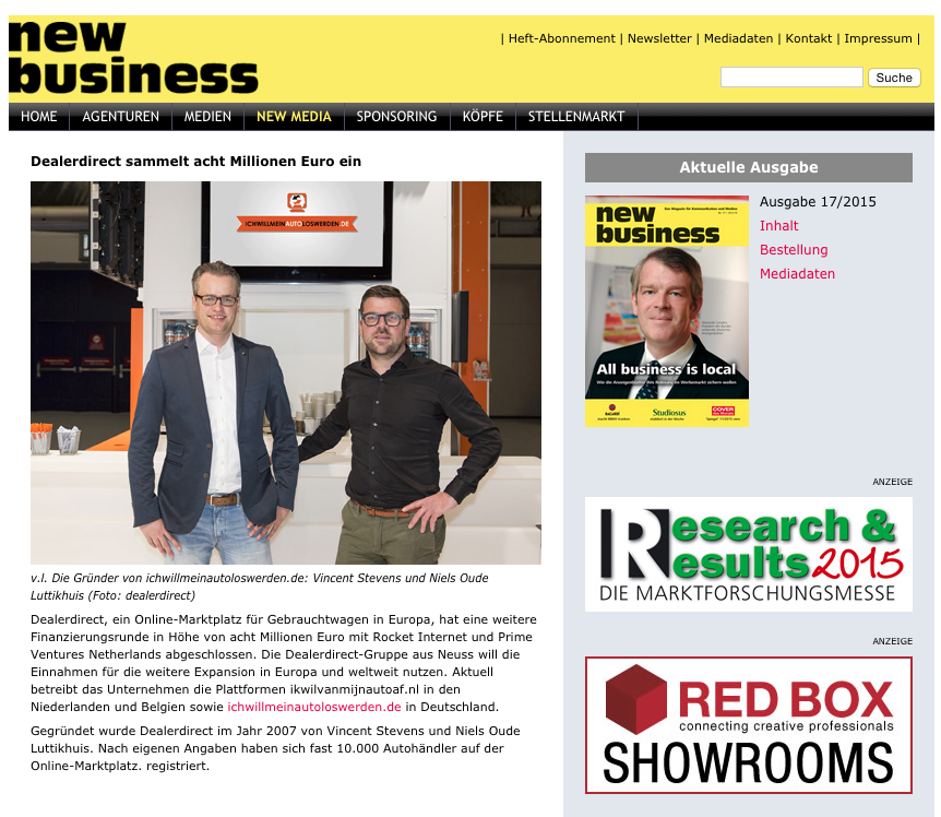 New Business Online | Screenshot